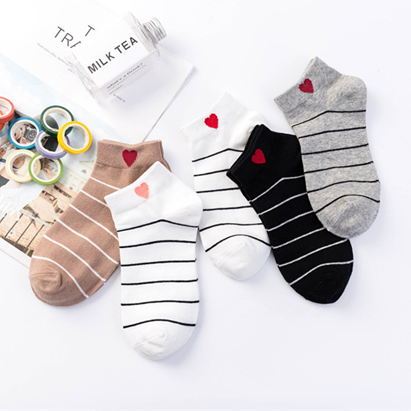 2019 Hot Unisex Candy Color Creative Cute Embroidery Expression Boat Socks Fashion Cotton Breathable Ankle Socks Summer