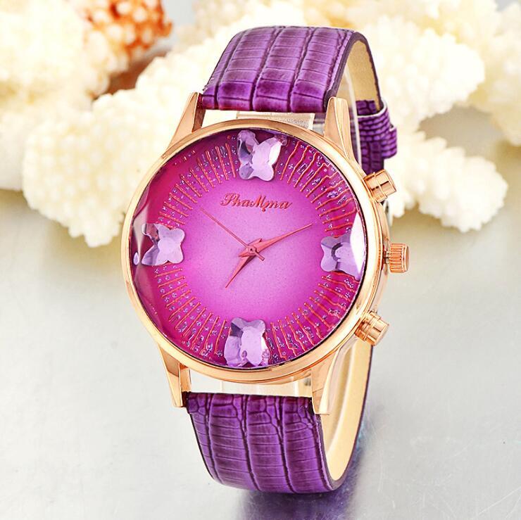 Ladies Wrist Watch Women 2018 Brand Famous Female Clock Quartz Watch Butterfly Hodinky Quartz-watch