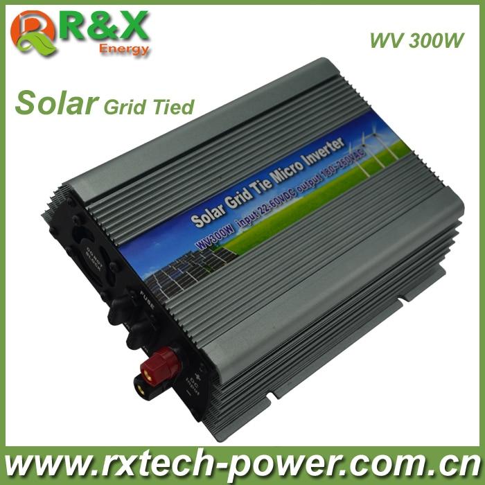 Grid-Tie 300W Pure Sine Wave Inverter DC22V~60V, AC 180-260V, 45Hz-53Hz/55Hz~63Hz, for Solar Input Power 400W, good quality 300w grid tie solar controller inverter mppt pure sine wave ac output can adjustable 90 130v to 190 260v dc input 22 60v