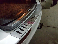 Car Styling Rear Trunk Bumper Tail Gate Door Sill Trim 2009 2010 2011 2012 2013 2014 2015 2016 For Audi Q5 Accessories
