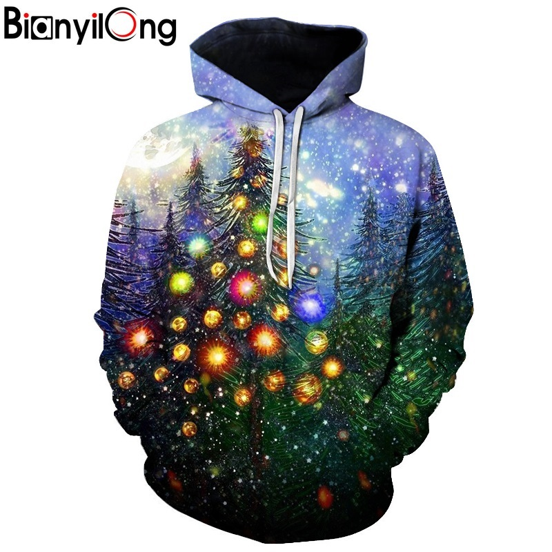 Christmas tree 3D Sweatshrits Men Women Printed Hoodies Hot Sale Quality Fashion Novelty Pullover Casual Tracksuit