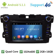 Quad Core 7″ 1024*600 2DIN Android 5.1.1 Car DVD Video Player Radio Stereo FM DAB+ 3G/4G WIFI GPS Map For MAZDA CX-7 2010-2015