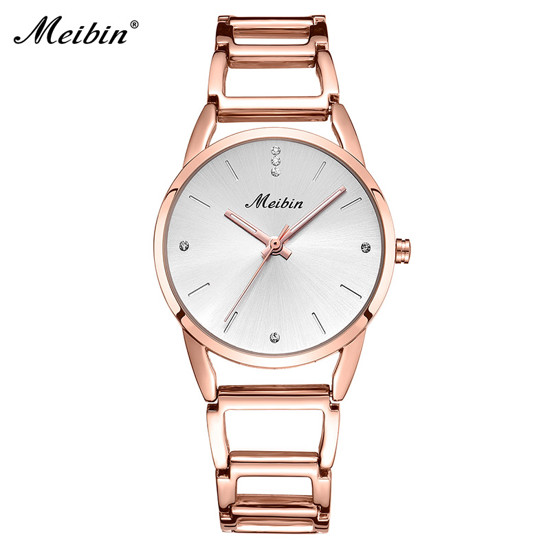 MEIBIN Hot Sale Elegant Women Bracelet Watch Fashion Ladies Quartz Watches Casual Female Wristwatch Montre Femme Gifts 1126