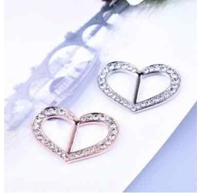 Br048 Baru Fashion Sederhana Syal Gesper Paduan Kristal Hati Bentuk Gesper Syal Perhiasan Aksesoris Wanita Syal Syal Gesper