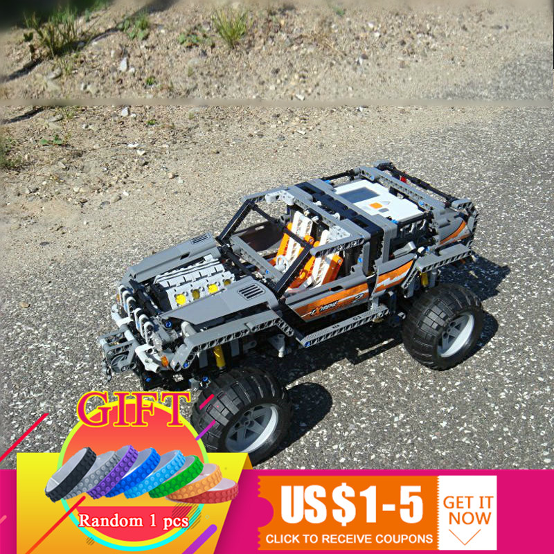 20030 1132Pcs Technical Series The Off-Roader Set Compatible with 8297 Children Educational Building Blocks Toys lepin 20030 1132pcs technik ultimate off roader cars legoingly 8297 sets building nano block bricks toys for boy gifts