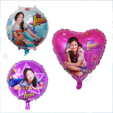 10pcs/lot Soy Luna Girl Foil Balloons 18 inch Baby Girl Birthday Party Decor Princess Luna Air Balloon Supplies Toys(China)