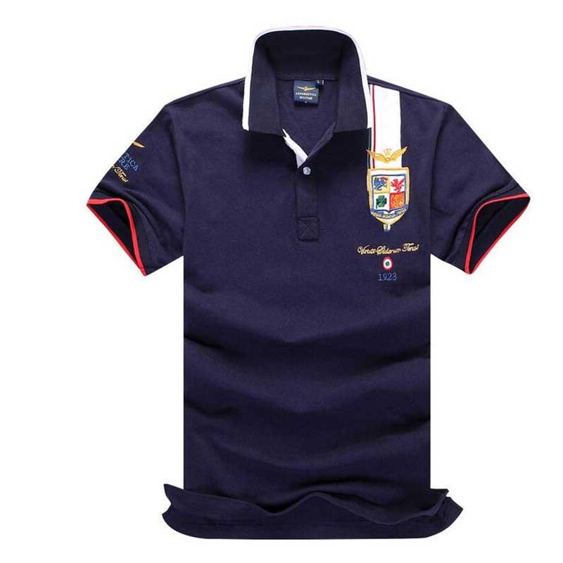 Obligatorisch Hohe Qualität Camisas Masculinas Polo Australischen Calvin Einzelhandel Aeronautica Militare Männer Polo Hemd Air Force One Bestickt Babykleidung Mädchen