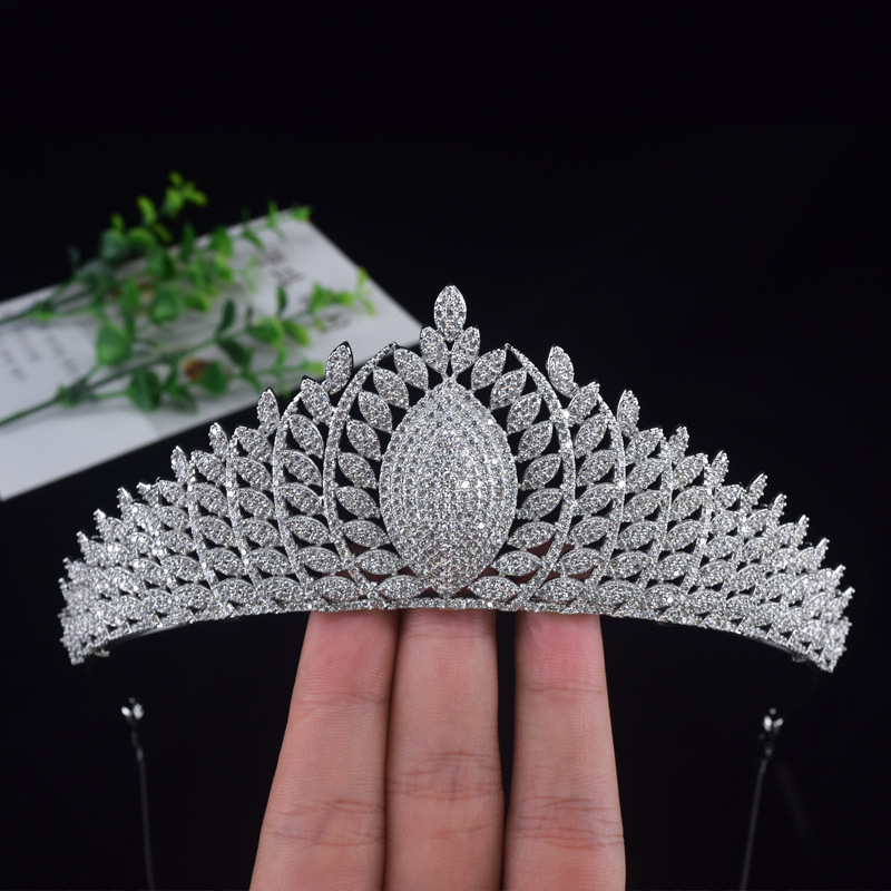 Jonnafe Luxury Full Cubic Zirconia Bridal Crown Wedding Tiara Hair Accessories For Bride Women Prom Crowns цена 2017