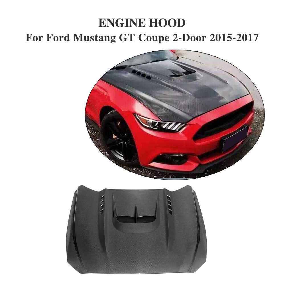 Compare prices on carbon fiber hood online shoppingbuy low price carbon fiber car engine hood bonnet cover fit for ford mustang coupe convertible 2 door vanachro Gallery