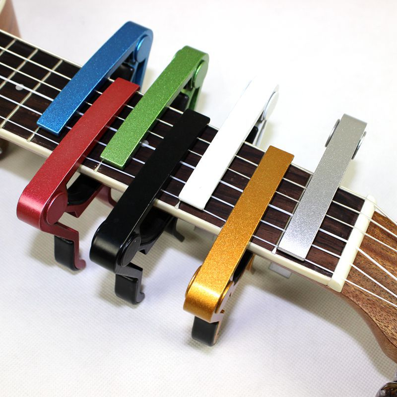 High Quality New Aluminium Alloy Quick Change Clamp Key Clip Acoustic Classic Electric Guitar Capo For Tone Adjusting(China)