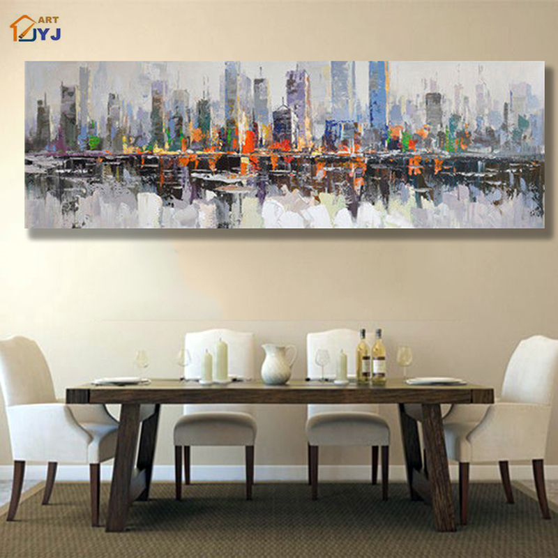 compare prices on cityscape oil painting online shopping buy low price cityscape oil painting. Black Bedroom Furniture Sets. Home Design Ideas