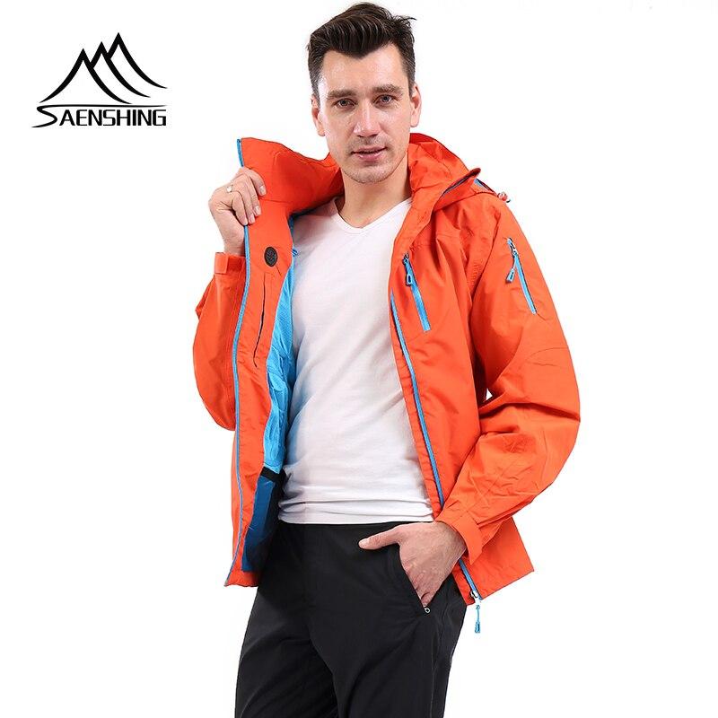 SAENSHING veste d'extérieur hommes imperméable coupe-vent hommes veste camping randonnée escalade sport manteau chaud loisirs veste pour hommes