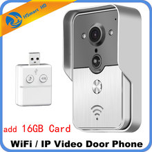 Smart 4G WiFi Video Doorphone IP Camera 16GB Card Wireless Video Intercom System Iphone Android APP
