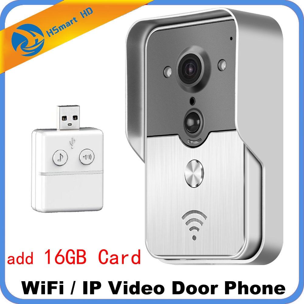 Smart 4G WiFi vidéo interphone IP caméra 16 GB carte sans fil système d'interphone vidéo Iphone Android APP Mobile sonnette étanche