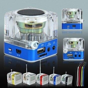 REDAMIGO TT-028 Multi-Colors Digital fm radio FM Mini Speaker Music Portable FM radio SD/TF USB MP3 Player LCD Display T208R