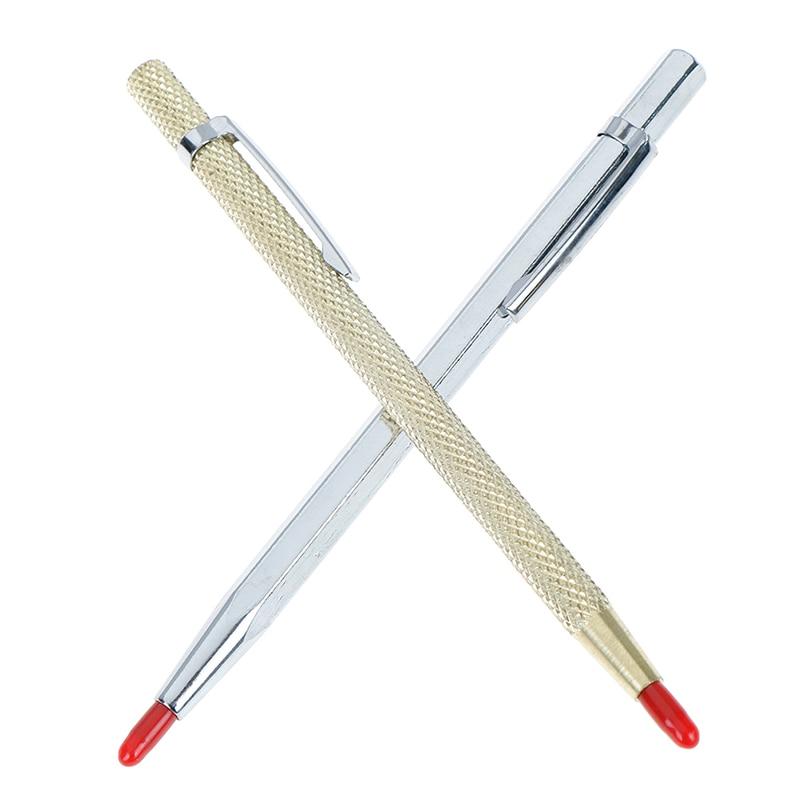 1Pc Tungsten Steel Pointed Scriber Pocket Clip Scriber For Metal Glass Ceramics