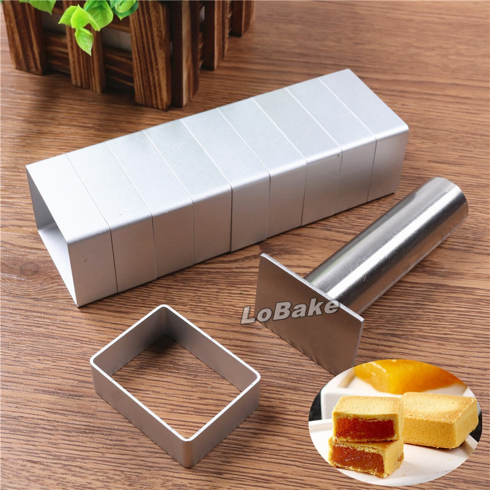 Rectangle shape aluminium pineapple cake mold stainless steel pressing stamp mooncake mould fondant cookie biscuit molds DIY Стол