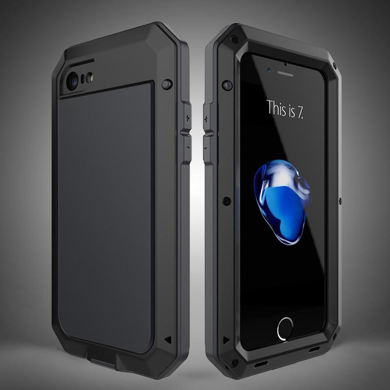 HTB1YACeeKuSBuNjSsplq6ze8pXae Heavy Duty Protection Doom armor Metal Aluminum phone Case for iPhone 11 Pro Max XR XS MAX 6 6S 7 8 Plus X 5S 5 Shockproof Cover