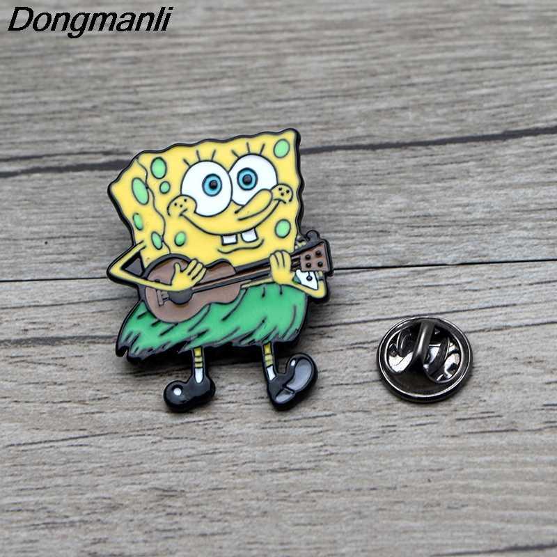 L3465 Kartun Logam Enamel Pin untuk Ransel/Tas/Jeans Pakaian Lencana Kerah Pin Bros Perhiasan 1 Pcs