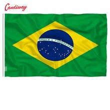 90x60 см Бразилия бразильский флаг национальные флаги украшения дома Бразильский Флаг Страны Флаг для наружного и внутреннего размещения NN010