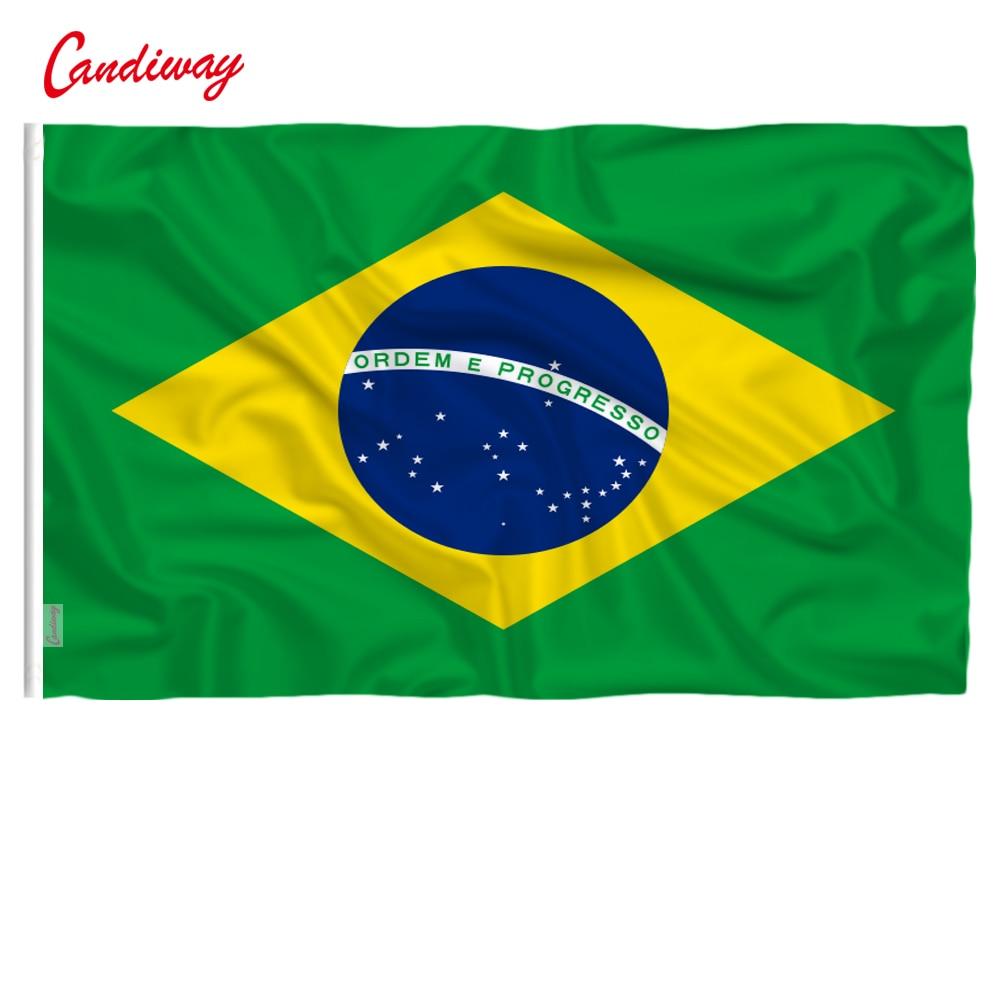 90 X 60cm Brazil Brazilian Flag National Flags Home Decoration Brasil FLAG Country Banner Indoor Outdoor  NN010