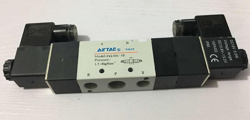 Air Solenoid Valves 4V330E-10 3 Position 5 Port 3/8 Pneumatic Control Valve 5 way air valve 3 8 inch pneumatic gas air control solenoid valves inlet outlet 3 8 4a310 10