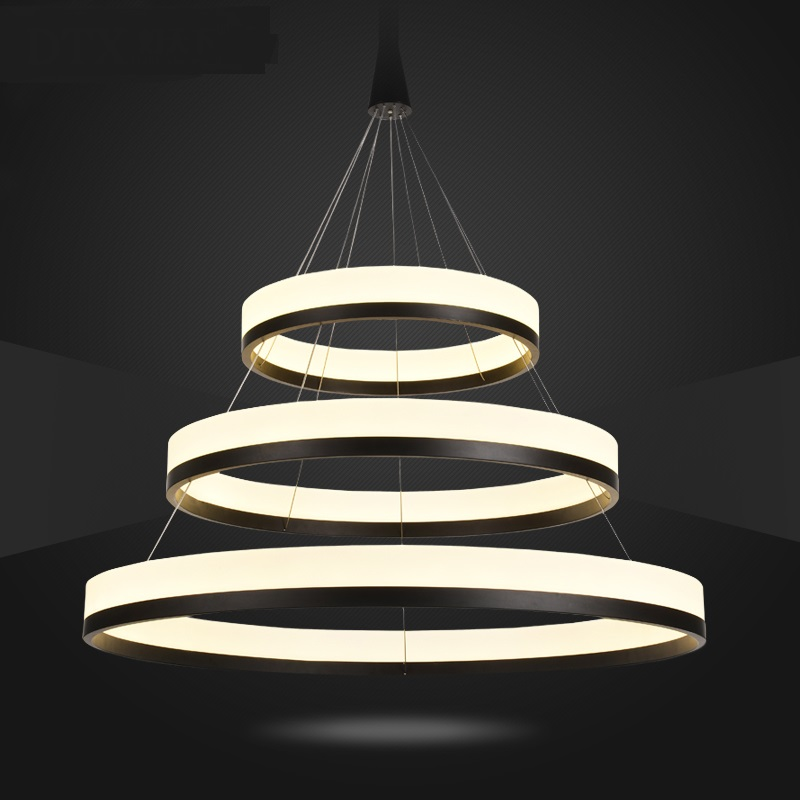 Ring LED Pendant Lights living room circular atmosphere modern creative bedroom personality restaurant pendant lamps FG156 modern living room light dining ring led crystal pendant lights room three bedroom creative personality pendant lamps