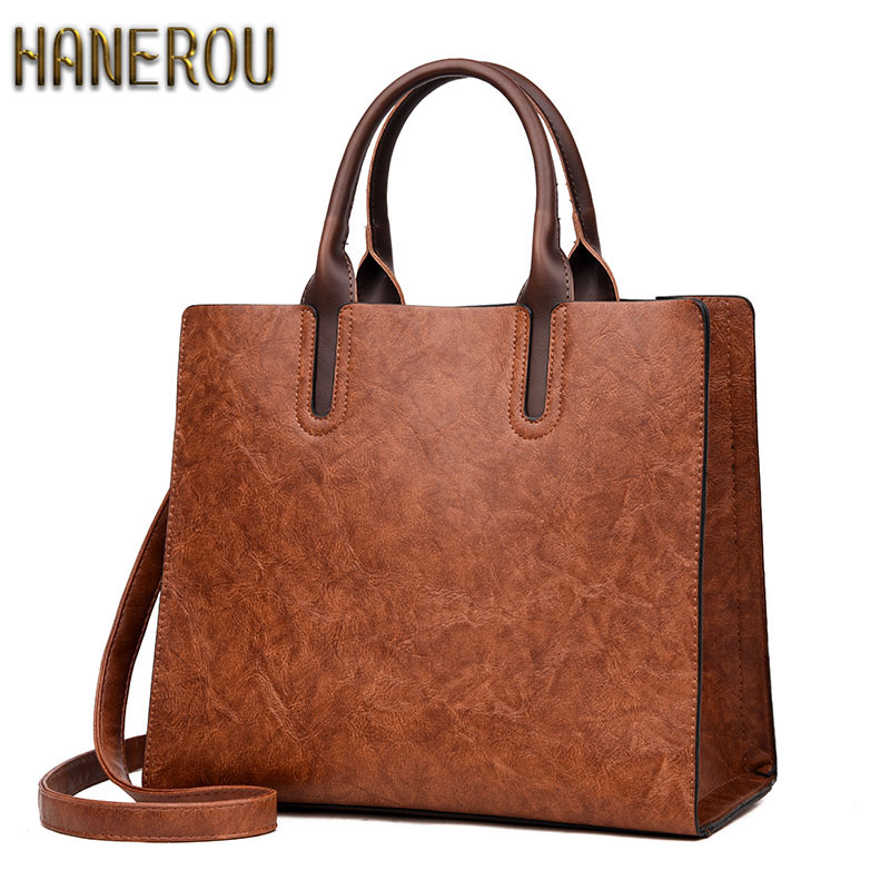 Luxury Handbags Women Bags Designer 2018 Fashion PU Leather Women Shoulder Bag Big ladies Hand Bags Vintage Tote Bag Sac fashion luxury handbags women leather composite bags designer crossbody bags ladies tote ba women shoulder bag sac a maing for