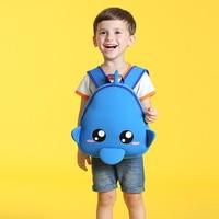 Cartoon Children School Backpack Cute Fish Waterproof Neoprene Fabric For Toddler Boys Kindergarten Kids School Bag Mochila