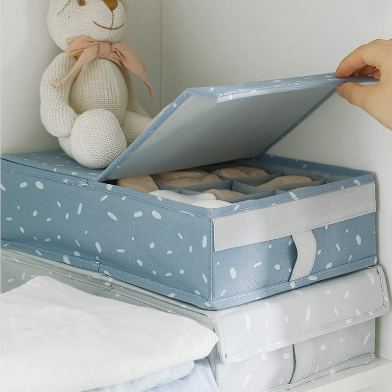 Storage-Boxes Dividers Socks Closet-Organizer Underwear Cloth-Cover Drawer Bra with  title=