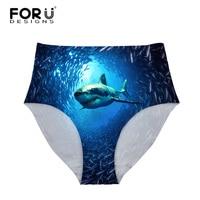 FORUDESIGNS Women High Waist Underwear Briefs Body Shaper Shark Dolphin Sexy Panties Woman Ultra Thin Slimming