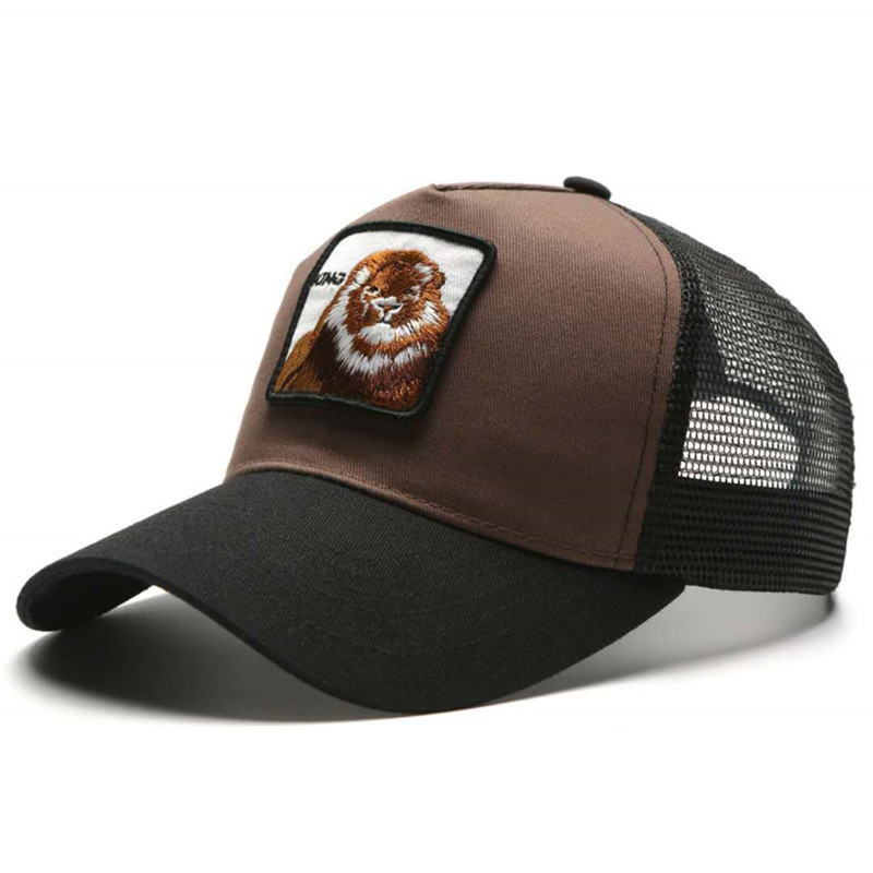 NEW Lion embroidery Ponytail   Baseball     Cap   Women Messy Bun Snapback Summer Mesh Hats Casual Adjustable Sport   Caps   Drop Shipping
