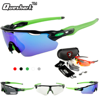 Queshark Erkek Kadınlar Polarize Bisiklet Gözlük Bisiklet Güneş Gözlüğü 3 Objektif Yarış Bisiklet Gözlük Balıkçılık Yürüyüş Sürme Spor Gözlük