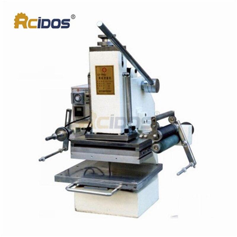 LZ-358 máquina de estampado de lámina caliente a presión de 1,5-toneladas, máquina de plegado rcidas, prensa de marcado, máquina de grabado (30x15 cm)