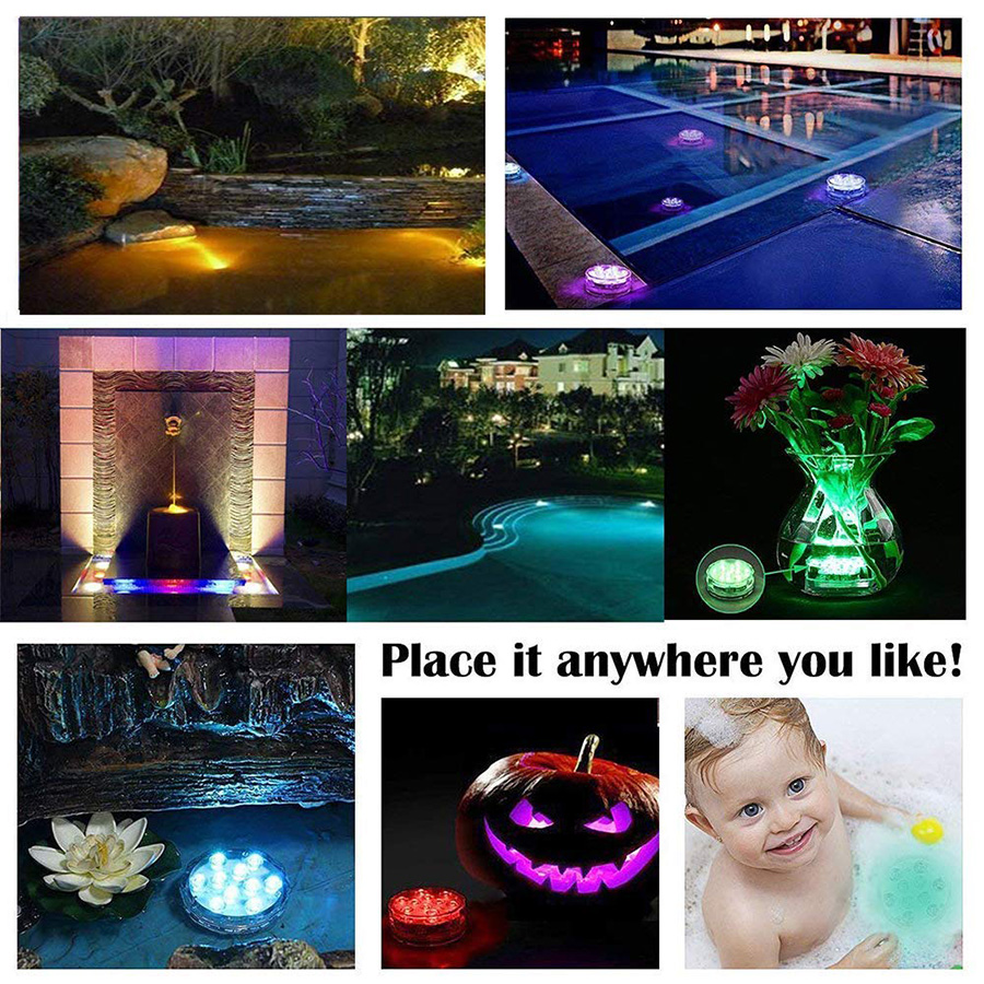Submersible LED Pool Lights Remote Control (RF)-aolanscctv