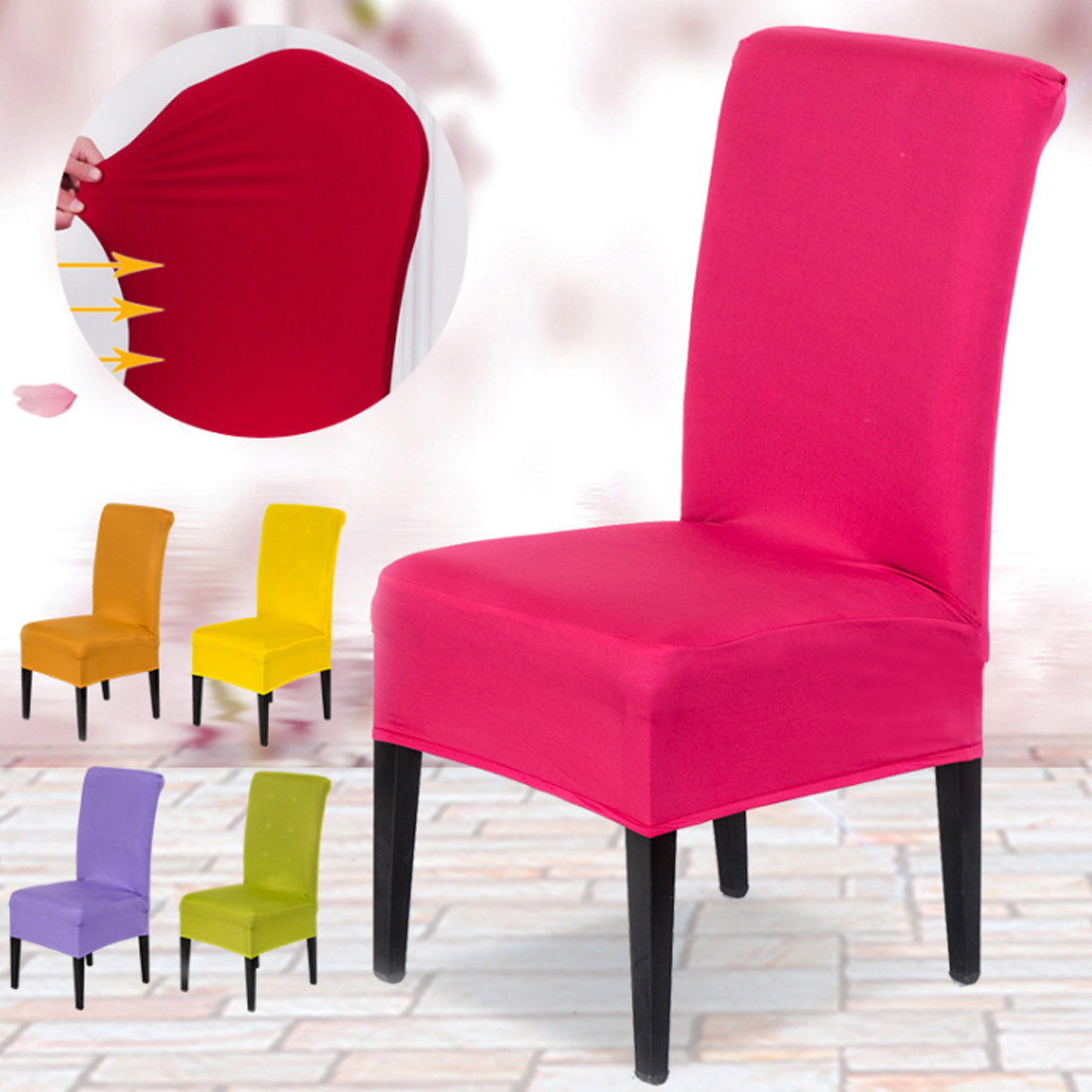1pc Free Shipping Spandex Chair Cover Fit For Square Back
