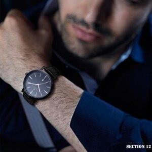 Image 4 - HAIYES mężczyźni oglądać luksusowe marki analogowe Auto data japonia ruch wodoodporne zegarki kwarcowe najlepszy prezent 2018 New Arrival zegarki