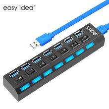 Multi $ number Puertos USB 3.0 Hub Super Speed 5 Gbps Hub USB Mini 3.0 USB Divisor Con On/Off Interruptor de Alta Calidad Para El Ordenador Portátil de Escritorio