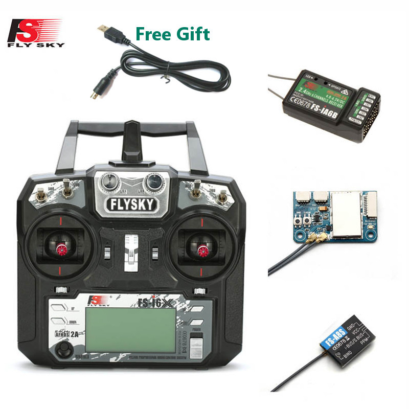 FLYSKY FS-i6X i6X 10CH 2.4GHz AFHDS 2A RC Transmitter With X6B iA6B A8S iA10B iA6 Receiver for RC FPV Racing Drone Retailbox(China)