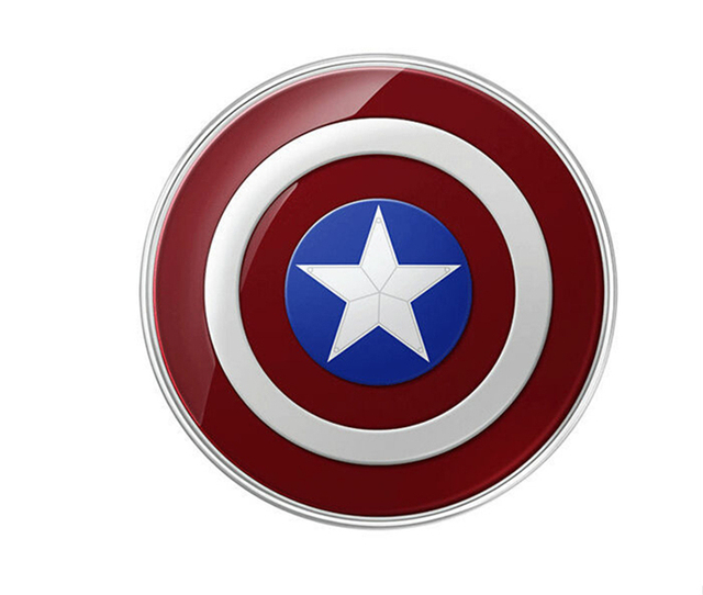 Captain American cell phone Qi Wireless Charger