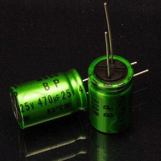 2018 Bán 10 Chiếc/Bộ 50 Nichicon Audio Electrodeless Điện Phân Tụ Điện MUSE BP 470UF/25V miễn Phí Vận Chuyển
