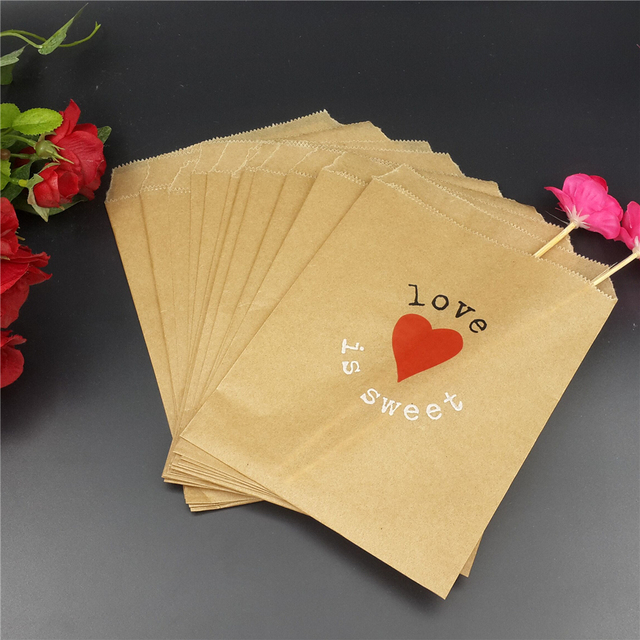 Wedding Favor Bags Love Is Sweet Personalized Candy Fall
