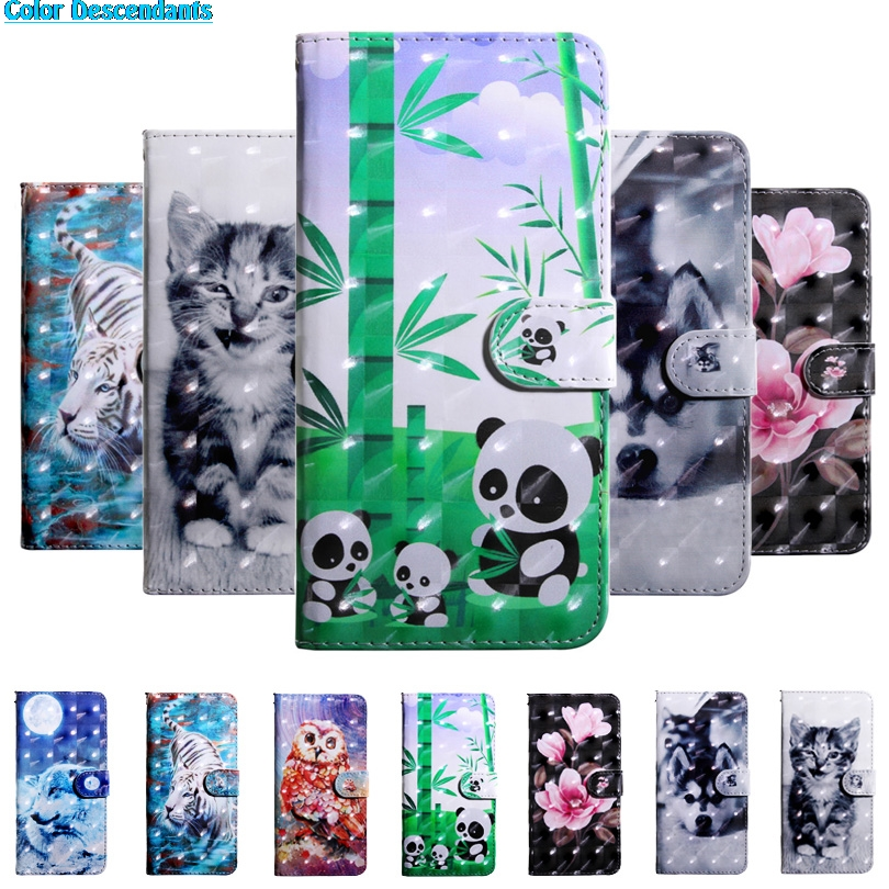 For Motorola G6 Case on For Coque Motorola Moto G6 case For Fundas Motorola Moto G6 Cover 3D Painted Wallet Stand Phone Cases