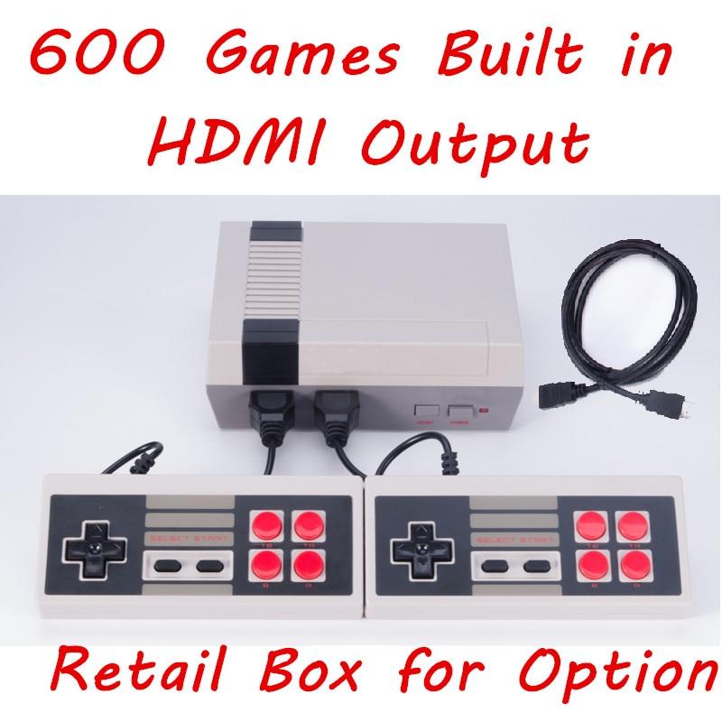HDMI Mini ТВ игровой консоли Ретро игровой консоли для 8 бит игры с 600 различных Встроенные игры двойной Игровые