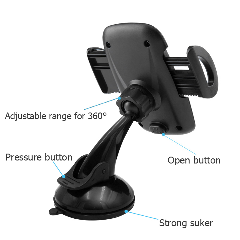TISDLIP Universal Smartphone Car Phone Holder Stand Holder For Phone in The Car Mount Mobile Support Cellular For Iphone 8 Plus in Phone Holders Stands from Cellphones Telecommunications