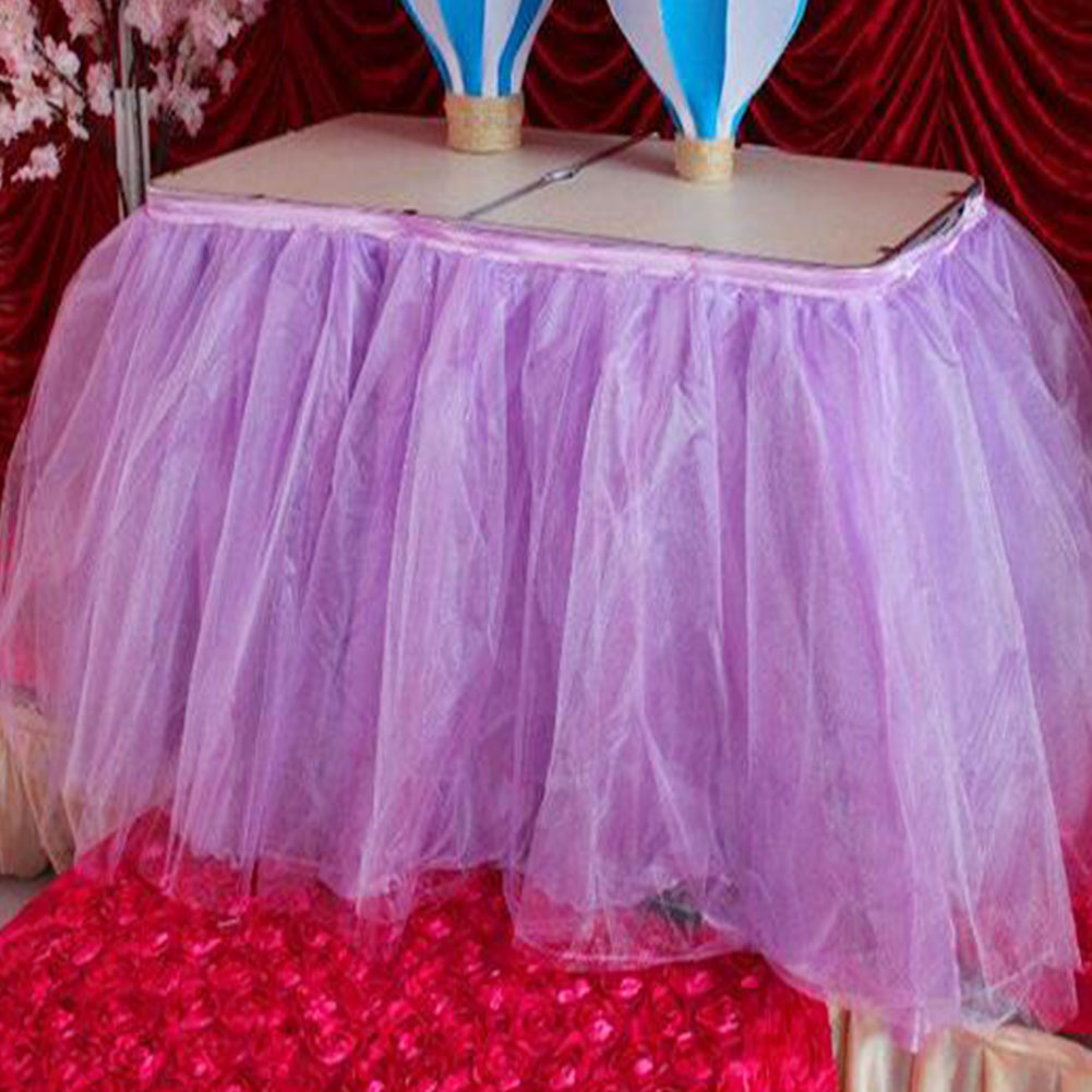 Tutu Table Skirt Tulle Tableware DIY Tablecloth Skirts Wedding Party ...