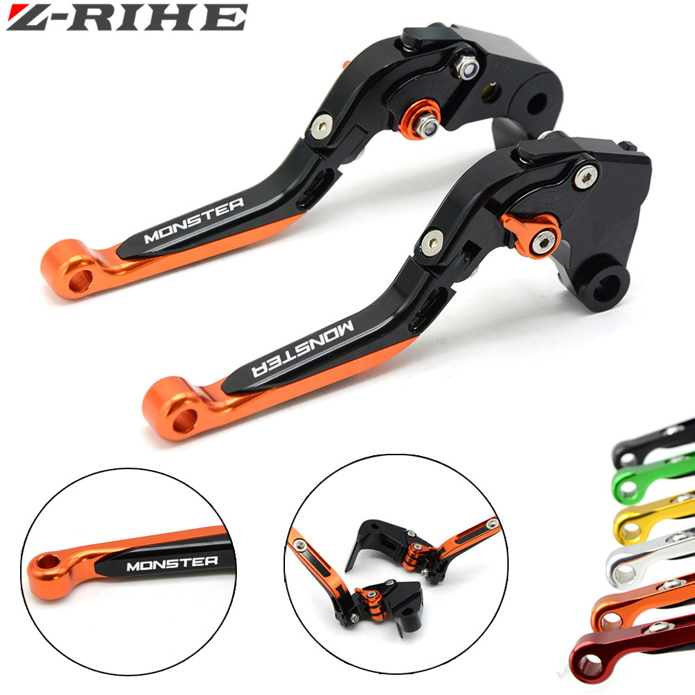 Motorcycle adjustable aluminum accessories Brake extension Folding clutch levers for ducati monster M900 1994-1999 M750 94-2000 billet alu folding adjustable brake clutch levers for motoguzzi griso 850 breva 1100 norge 1200 06 2013 07 08 1200 sport stelvio