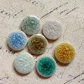 20 мм 30 шт микс 6-7 цветов плоская основа Хрустальная глазурь Китай керамические фарфоровые бусины фурнитура для ювелирных изделий Аксессуары - фото