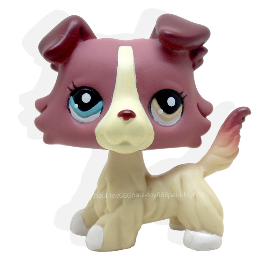 4 lot Littlest Pet Shop LPS Toy #2210 # 893 #363 #1262 Kids Gift Collie dogs