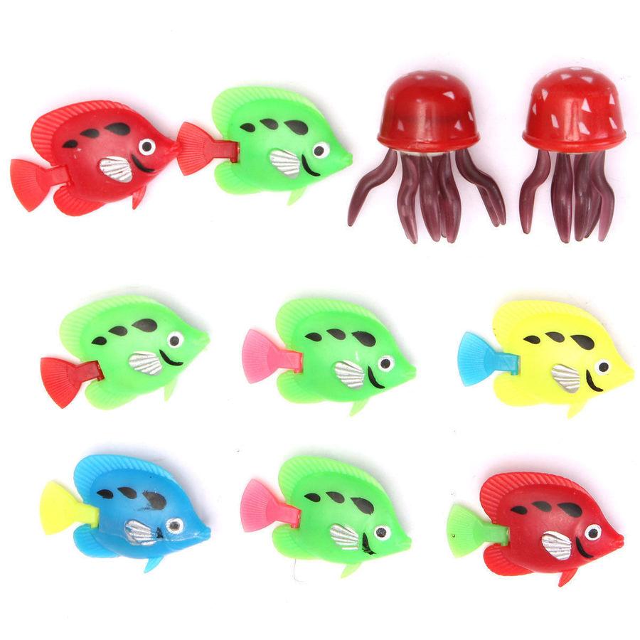 10pcs Mix Color Plastic Fish Sea Creatures for Bubble Tube Lamp ...